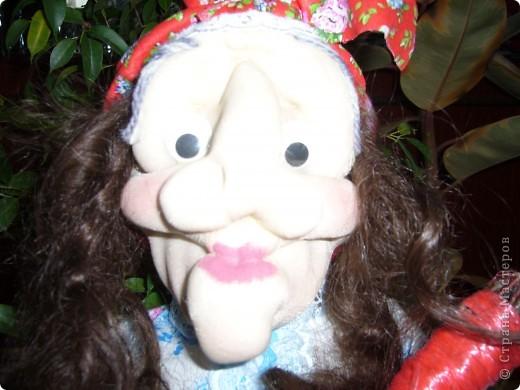 Вот моя первая кукла баба-яга ! фото 2