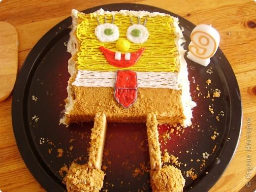 Торт ребенку на 9 лет.
