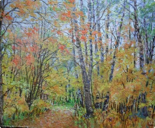 Осень, акрил. фото 1
