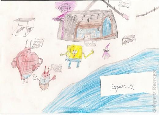 Я рисую Спанч Боба. фото 5