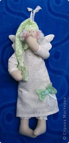 Сонный Ангел сделан на подарок пожилой даме с седыми кудряшками. 30см. фото 1