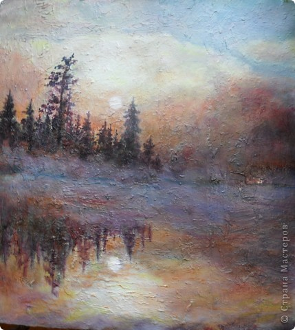 Осень, акрил. фото 4