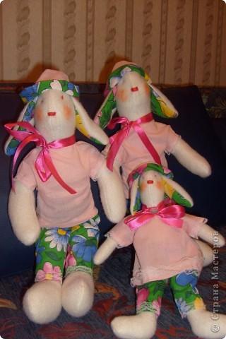 Первые зайки-тильды , на Новый Год внучкам подарю! фото 1