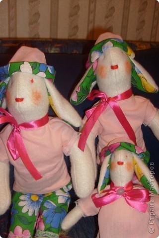 Первые зайки-тильды , на Новый Год внучкам подарю! фото 2