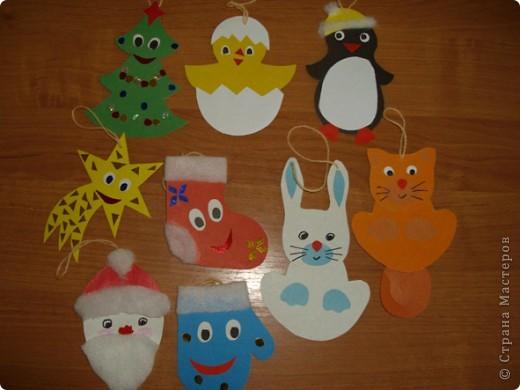 Новогодние игрушки. Делали с детьми в саду. Спасибо всем авторам за идеи. фото 1