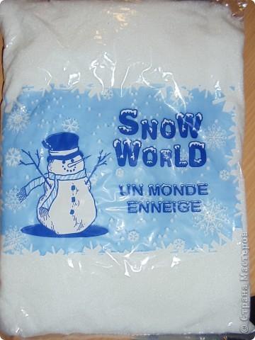 Вот такой снег я приобрела для украшения своих работ и еще на что фантазии хватит. Стоит кстатии дешево.  фото 1