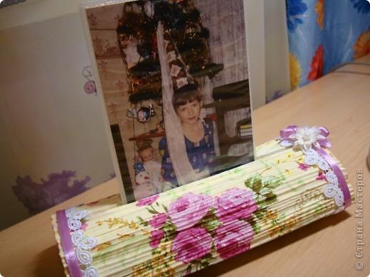 После изготовления свечек из журналов , пришла идея изготовить вот такой держатель-подставку для фото. фото 8