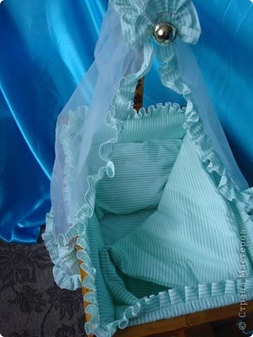 Насмотревшись на ваши кроватки, подумала........ А чтоб и мне не сделать для своей дочки игрушку.  фото 5