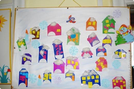 Зимние домики сделали мои детки в детском саду (средняя группа)