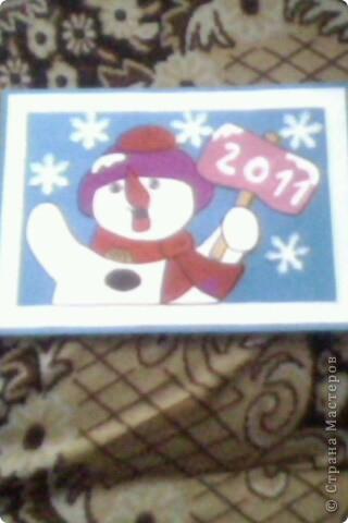 Вот такого снеговика мы нарисовали совместно с дочуркой Василисой на конкурс рисунков в районе. Извините за качество фото. Фотография сделана с телефона