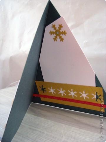 вот такая серия треугольных открытиок у меня получилась. Использовала цветной дизайнерский картон, фигурные дыроколы, тесьма, стразы, контур по стеклу и верамике. фото 6