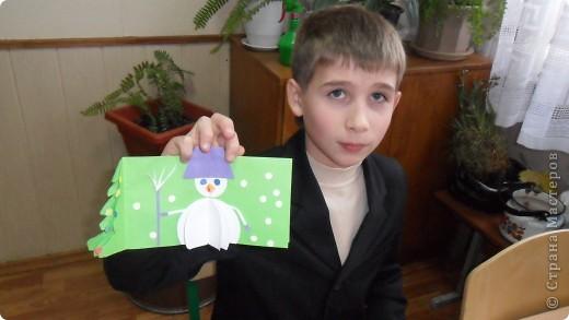 детки очень стараются сделать новогоднюю открытку фото 5