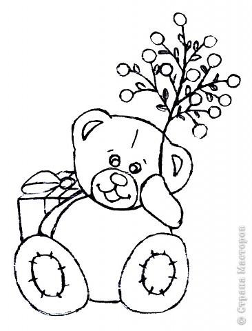 мишка рисунок: