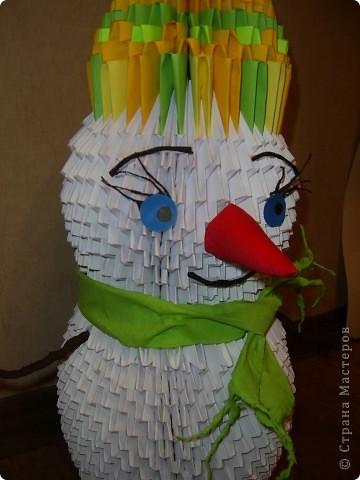 Снеговик- франт  фото 4