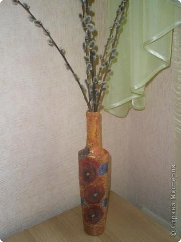 Ваза в японском стиле( цветочки настоящие) фото 2