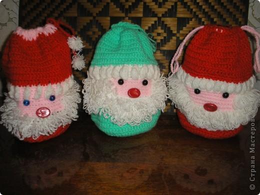 Дед Мороз - мешочек для новогоднего подарка