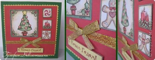 """Увидела картинки http://www.liveinternet.ru/users/2715574/post116091174/ и сразу придумались такие открытки. И решила назвать эту серию открыток """"Новогодние картинки"""". фото 3"""