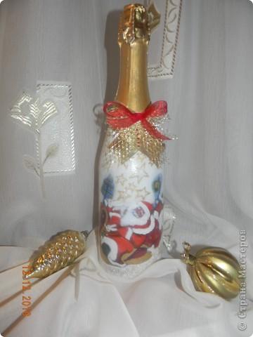 Моя первая Новогодняя бутылочка!!!!Спасибо Ксюша25!!!https://stranamasterov.ru/node/117240 фото 1