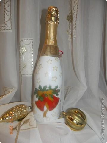 Моя первая Новогодняя бутылочка!!!!Спасибо Ксюша25!!!https://stranamasterov.ru/node/117240 фото 2