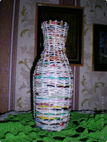 Плетёная ваза