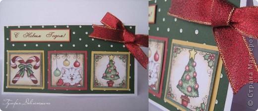 """Увидела картинки http://www.liveinternet.ru/users/2715574/post116091174/ и сразу придумались такие открытки. И решила назвать эту серию открыток """"Новогодние картинки"""". фото 4"""
