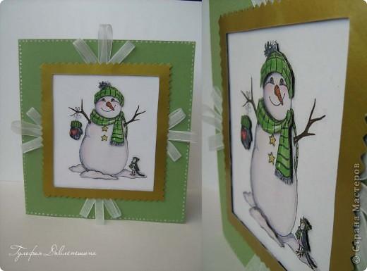"""Увидела картинки http://www.liveinternet.ru/users/2715574/post116091174/ и сразу придумались такие открытки. И решила назвать эту серию открыток """"Новогодние картинки"""". фото 7"""