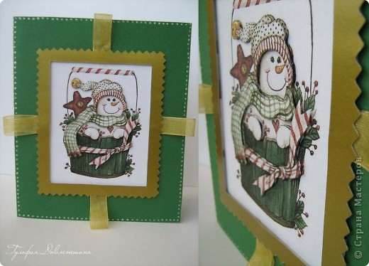 """Увидела картинки http://www.liveinternet.ru/users/2715574/post116091174/ и сразу придумались такие открытки. И решила назвать эту серию открыток """"Новогодние картинки"""". фото 8"""