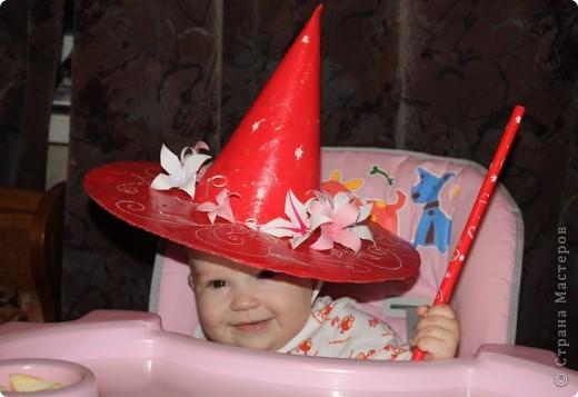 Моя маленькая волшебница. Хотя шляпа делалась для старшей дочери к новогодней ёлке. фото 1