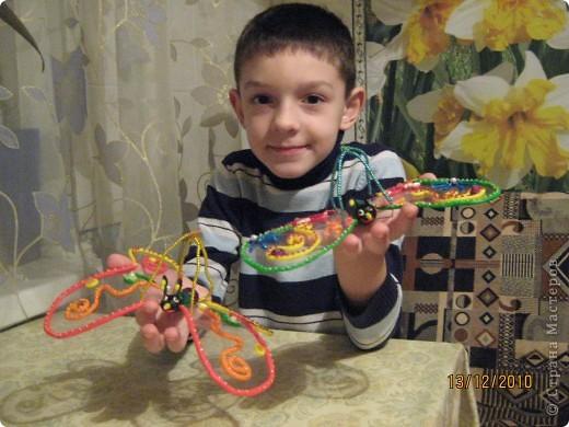 И снова, здравствуйте. Выкладываем на Ваше обозрение еще одну нашу с сыном поделку. Новогодние бабочки. Спасибо большое за идею  Лисяндре. фото 5