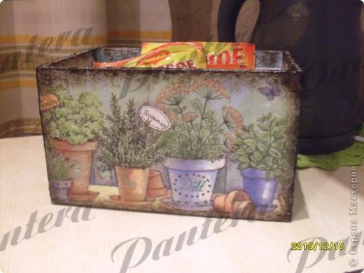 Давно собиралась сделать коробочку для хранения пакетиков со специями. фото 2