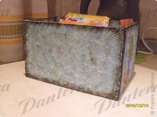 Давно собиралась сделать коробочку для хранения пакетиков со специями. фото 3