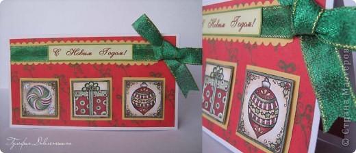 """Увидела картинки http://www.liveinternet.ru/users/2715574/post116091174/ и сразу придумались такие открытки. И решила назвать эту серию открыток """"Новогодние картинки"""". фото 6"""