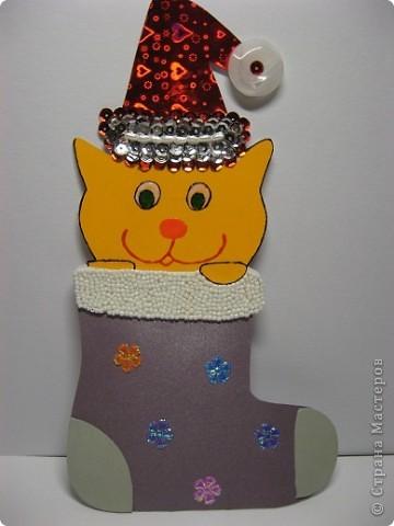 Скоро Новый год, поэтому Маруся сделала открытку учительнице. Надеемся, что открытка понравится. фото 1