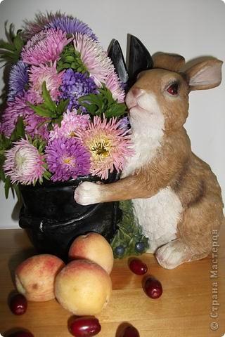 Цветочная елочка для зайчика. фото 1