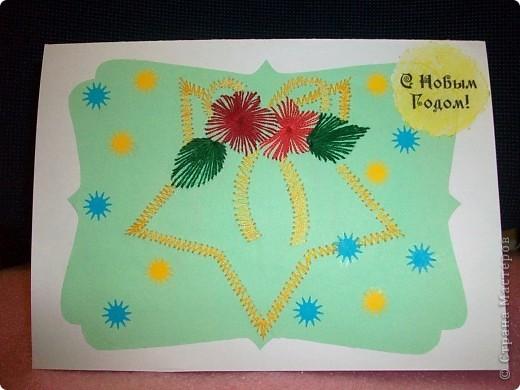 Первые открытки, которые я сделала, чтобы поздравить друзей и знакомых.  Открытка №1   фото 4