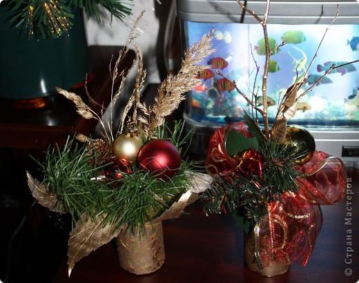 Вот такие мини букеты изготовила в подарок к Новому году. фото 2