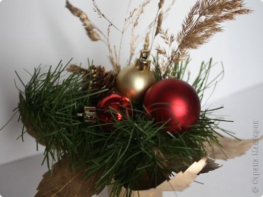 Вот такие мини букеты изготовила в подарок к Новому году. фото 4
