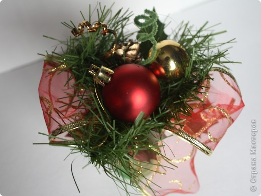 Вот такие мини букеты изготовила в подарок к Новому году. фото 5