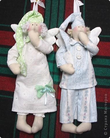 Сонный Ангел сделан на подарок пожилой даме с седыми кудряшками. 30см. фото 4
