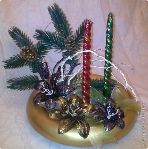 Новогодняя икебана. фото 3