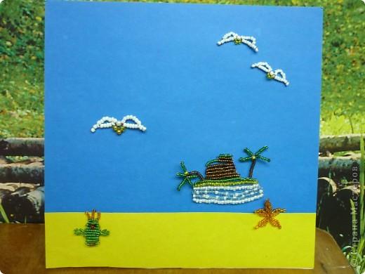 Это подарок другу. Даниил Непомнящий учится в 3 классе. Мы рады его появлению в кружке (раньше не разрешали заниматься бисером по медицинским показаниям). Занимается с удовольствием. Весёлый, музыкальный парень. фото 2