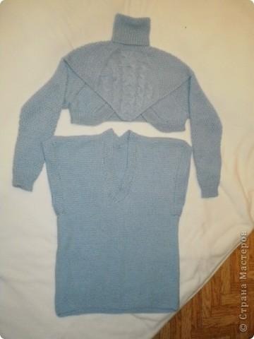 Так свитер виглядит целиком...связан спицами... фото 3