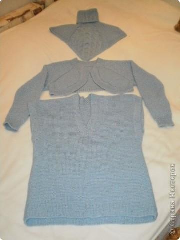 Так свитер виглядит целиком...связан спицами... фото 4