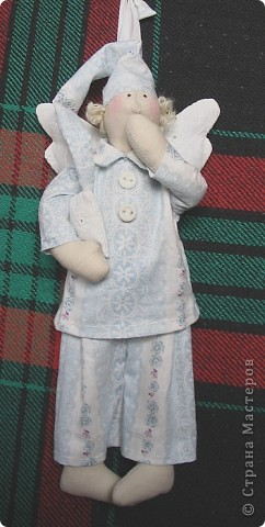 Сонный Ангел сделан на подарок пожилой даме с седыми кудряшками. 30см. фото 3