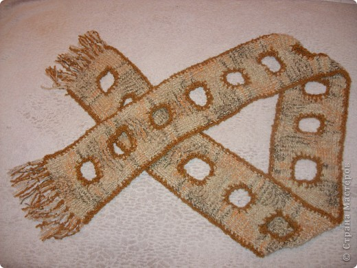 Мой декабрьский шарф.
