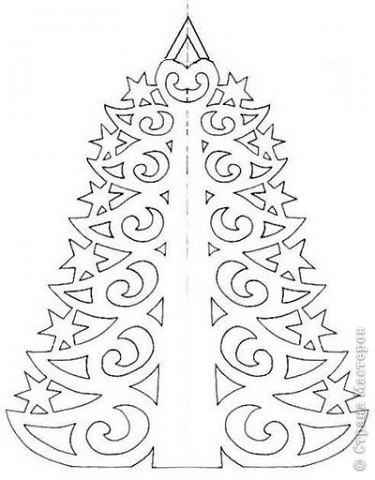 Новый год Вырезание Шаблоны-вырезалки ёлочек Бумага фото 1