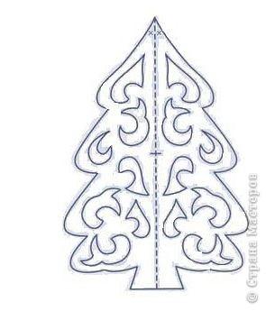 Новый год Вырезание Шаблоны-вырезалки ёлочек Бумага фото 2