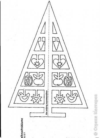 Новый год Вырезание Шаблоны-вырезалки ёлочек Бумага фото 3