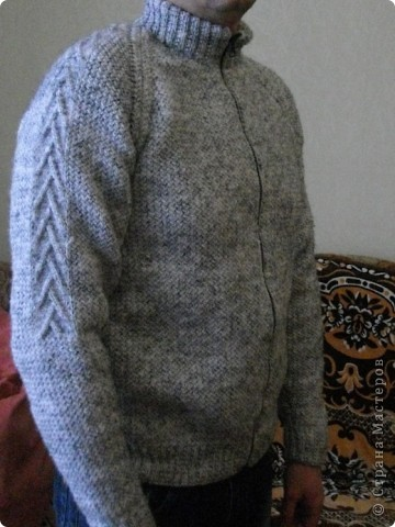 Тепленькая кофта мужу фото 2