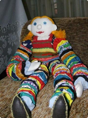 """Увидела куклу в журнале """"Ручная работа"""" - 2 вечера и у меня есть такая. Сын назвал ее Жужей."""